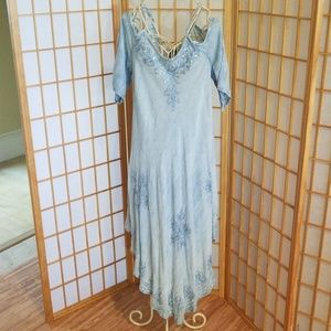 California Woman Blue Denim Sequin Dress